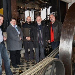 Die SPD-Landtagsabgeordnete Tanja Wagener (2.v.l.) informierte sich über die geplante Erweiterung des Technikmuseums in Freudenberg. Ihre Gesprächspartner waren die Vorstandsmitglieder (übrige Pers. v.l.n.r.) Wolfgang Leh, Alexander Fischbach, Hans Jürgen