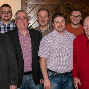 Der neue Vorstand der SPD Burbach. Armin Nies, Phillip Lauber, Falk Heinrichs, Volker Gerstner, Sascha Unger, Dennis Wallach, Peter Fronober und Joachim Müller (v.l.n.r.)