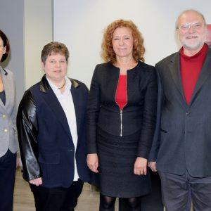 Tanja Wagener (2.v.l.) traf sich mit der Leitenden Oberstaatsanwältin Dr. Annegret Heymann, der Landgerichtspräsidentin Dagmar Schulze-Lange und Amtsgerichtsdirektor Dr. Paul Springer (übrige Personen v.l.n.r.), um sich über aktuelle Entwicklungen in der